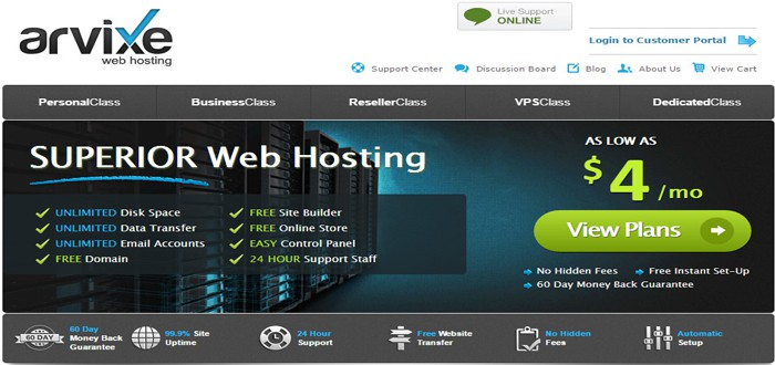 arvixe best web host
