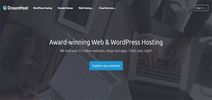 DreamHost best WordPress web hosting