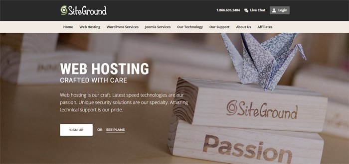 SiteGround inexpensive hosting provider
