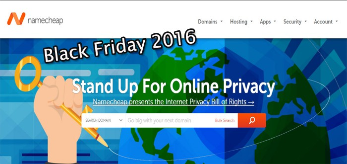 namecheap black friday/ cyber Monday discounts