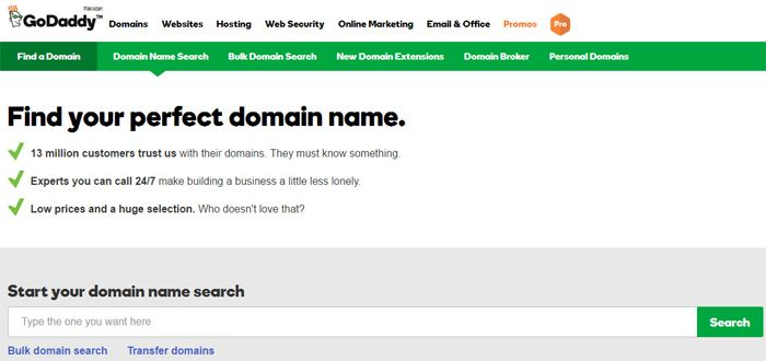 godaddy largest domain name registrar