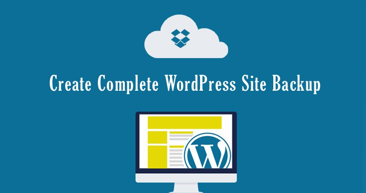 How to create complete wordpress website/blog backup