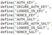 wp-config secret keys