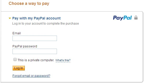 make payment using paypal