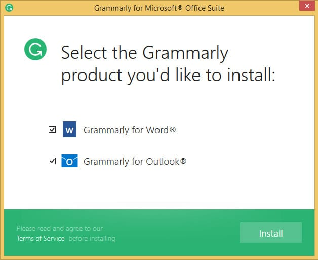 Installing Grammarly add-In for office