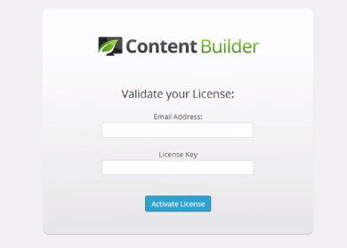 Activating Thrive content builder license