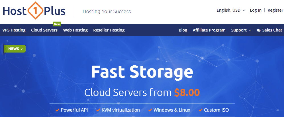 host1plus cloud servers