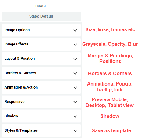 image editing options
