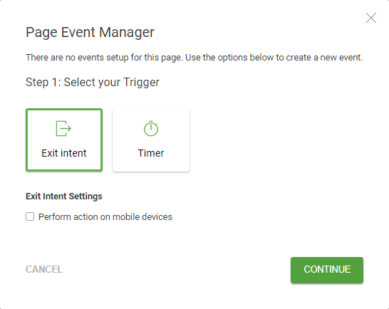page event manager