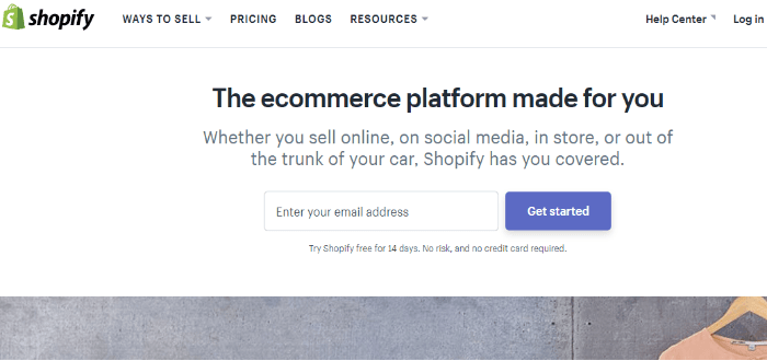 shopify for creating ecommerce store