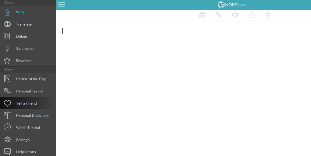 ginger interface