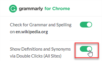 grammarly explaination box