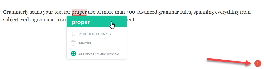 grammarly in wordpress editor