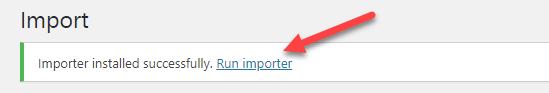 run importer link