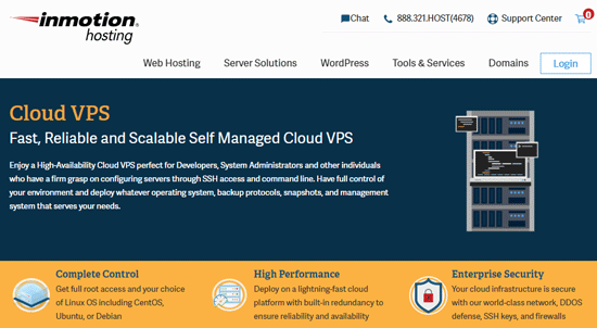 inmotionhosting cloud vps features